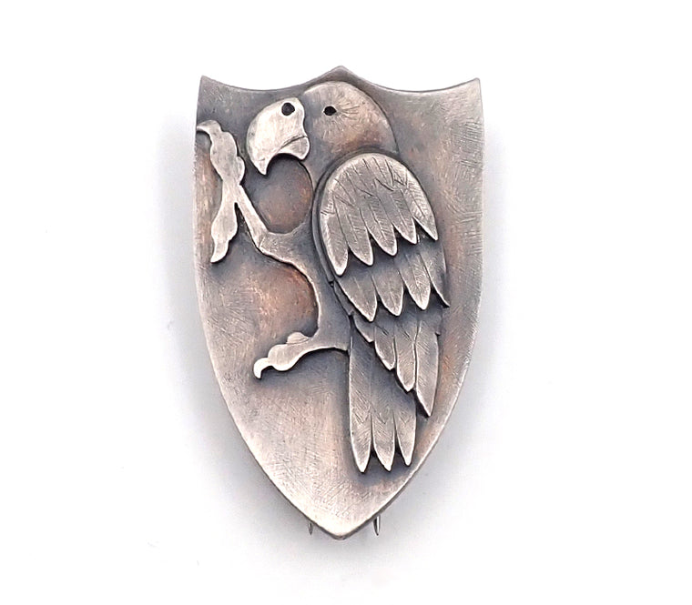 Lisa West Kaka shield brooch