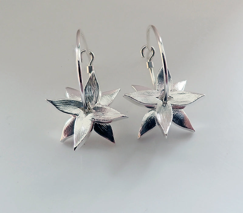 Royal Jewellery Studio Kiri Schumacher sterling silver star anise earrings