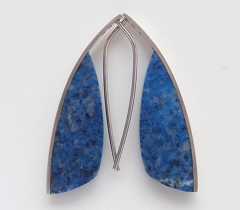 Lapis Curve Earrings