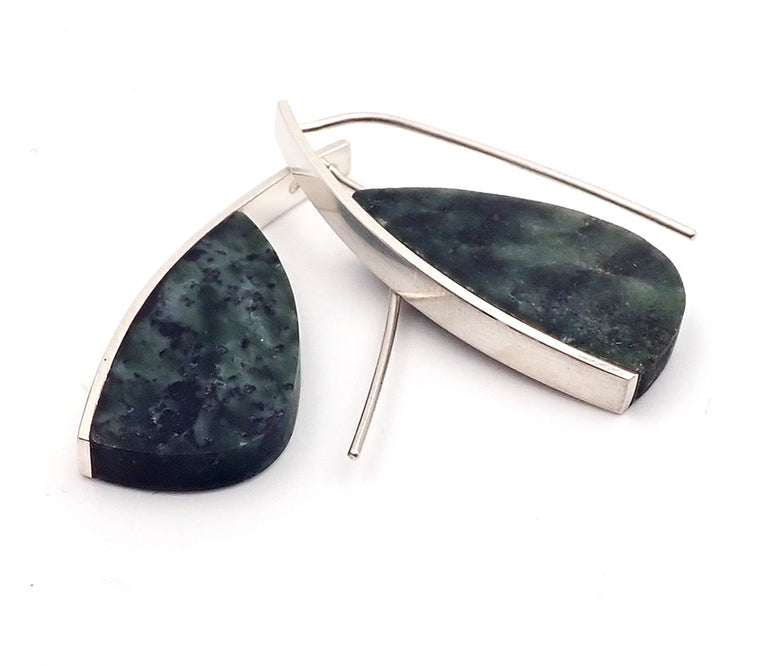 Pounamu Curve Earrings