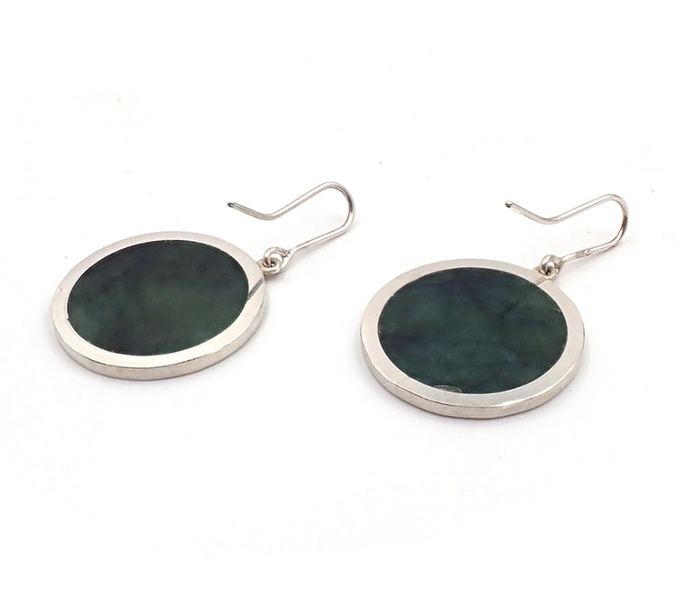 Pounamu Disc Earrings