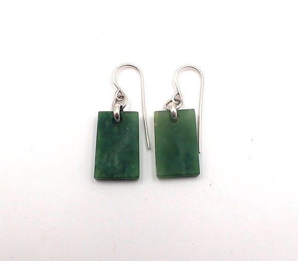 Pounamu Small Rectangle Earrings