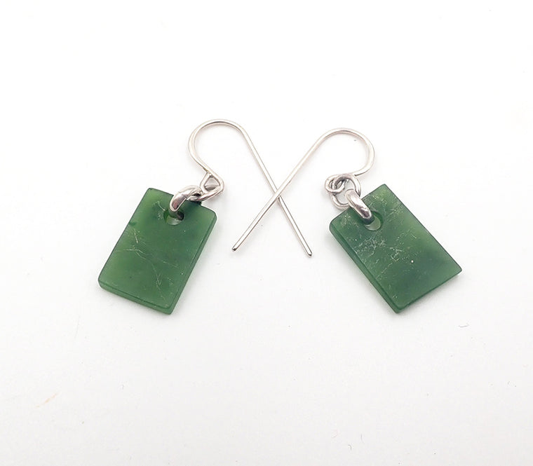 Pounamu Rectangle Small Earrings