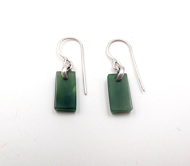 Pounamu Tiny Rectangle Earrings