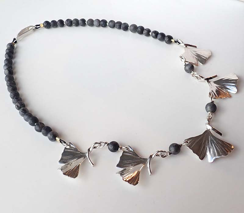 Gingko Five Leaves Necklace