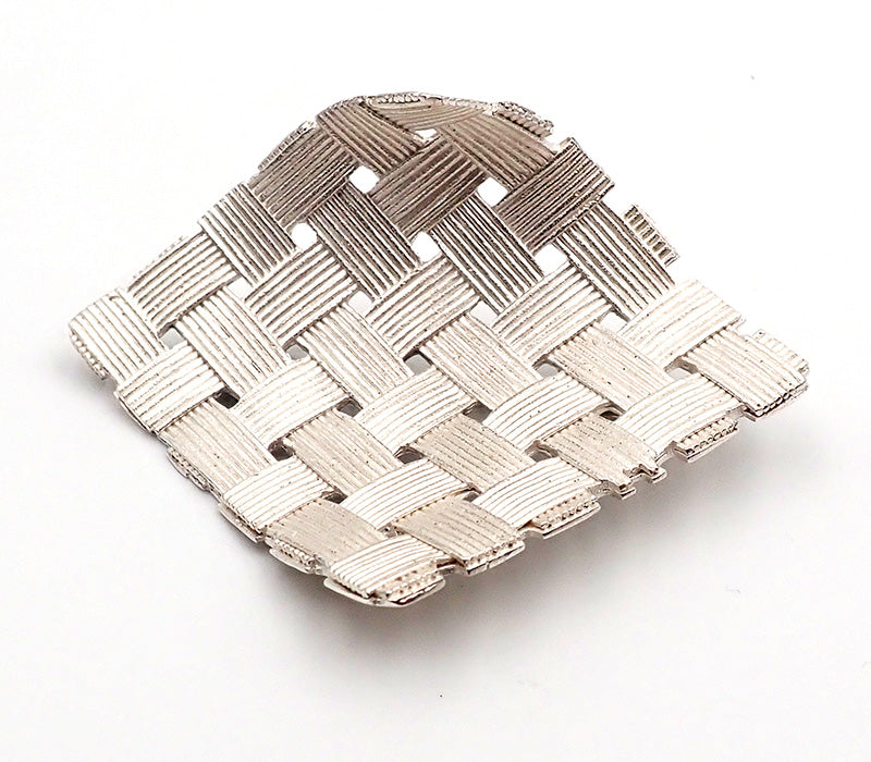 Woven Square Brooch