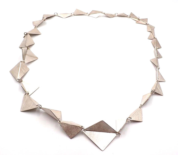 Origami Long Triangle Necklace