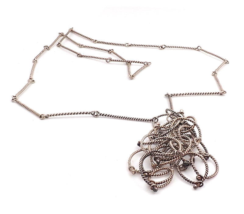 Twisted Cluster Necklace