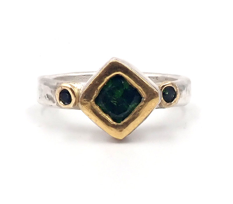 Green Tourmaline Kite Ring
