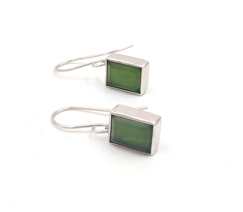 Faceted Box Earrings