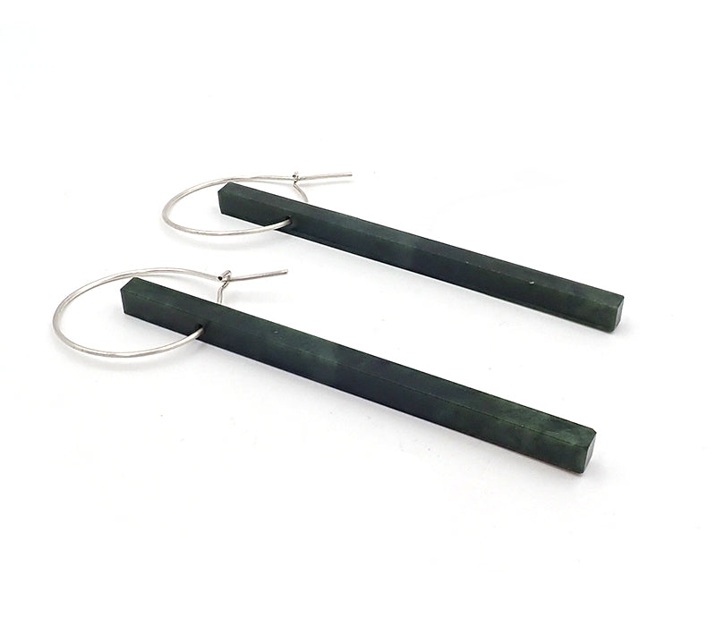 Pounamu Rod Earrings