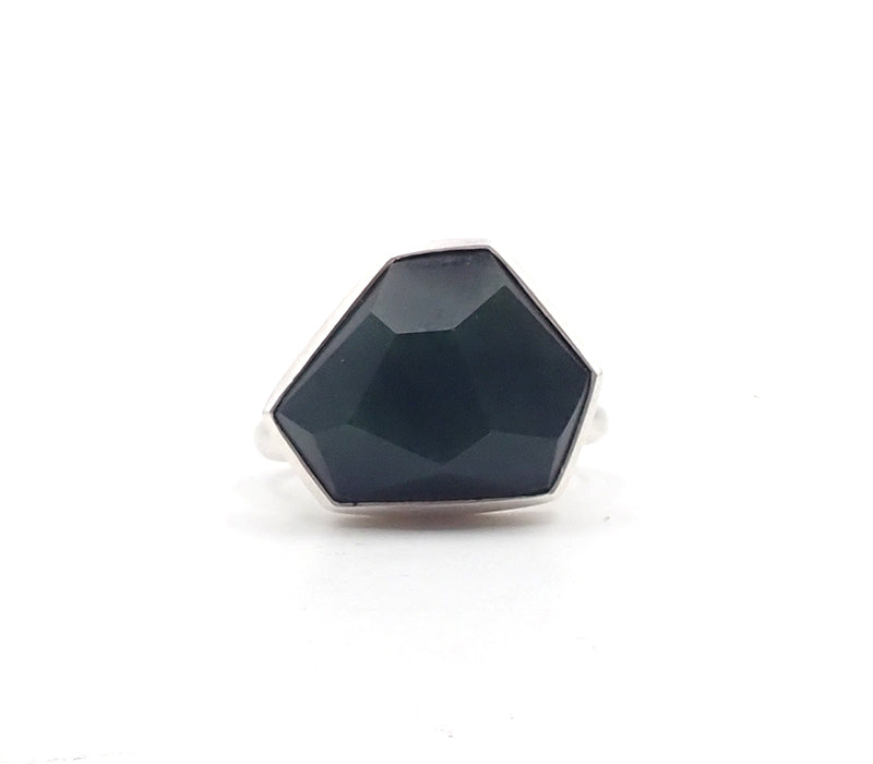 Faceted Pounamu Ring