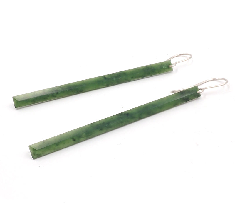 Faceted Bar Earrings