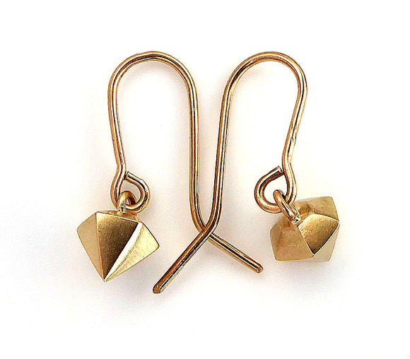 3D Hex Diamond Hook Earrings