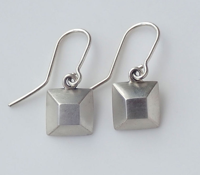 Square Faux Diamond Earrings