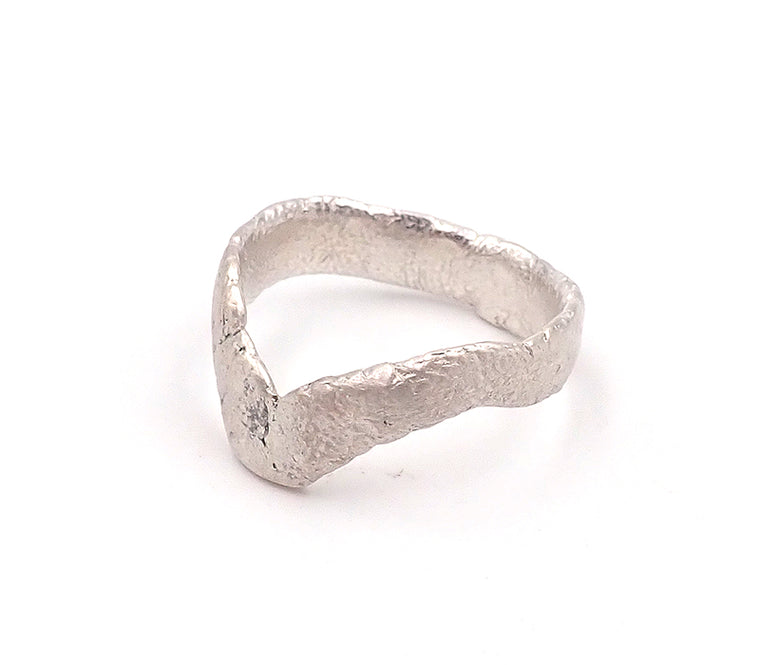 V Finger Print Ring
