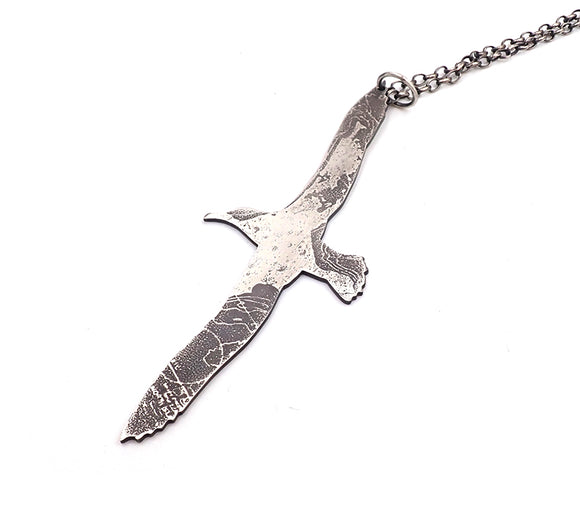 """nz made jewellery"" ""New Zealand Jewellery"" ""nz made"" ""nz made pendant"" ""NZ handmade jewellery"" ""silver albatross"" ""albatross pendant"" ""silver pendant"" ""necklace"" ""Helen Turinksky"" ""albatross"""