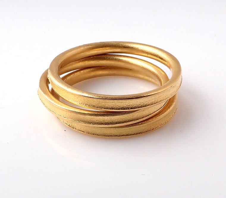 Yellow Gold Stacker Rings