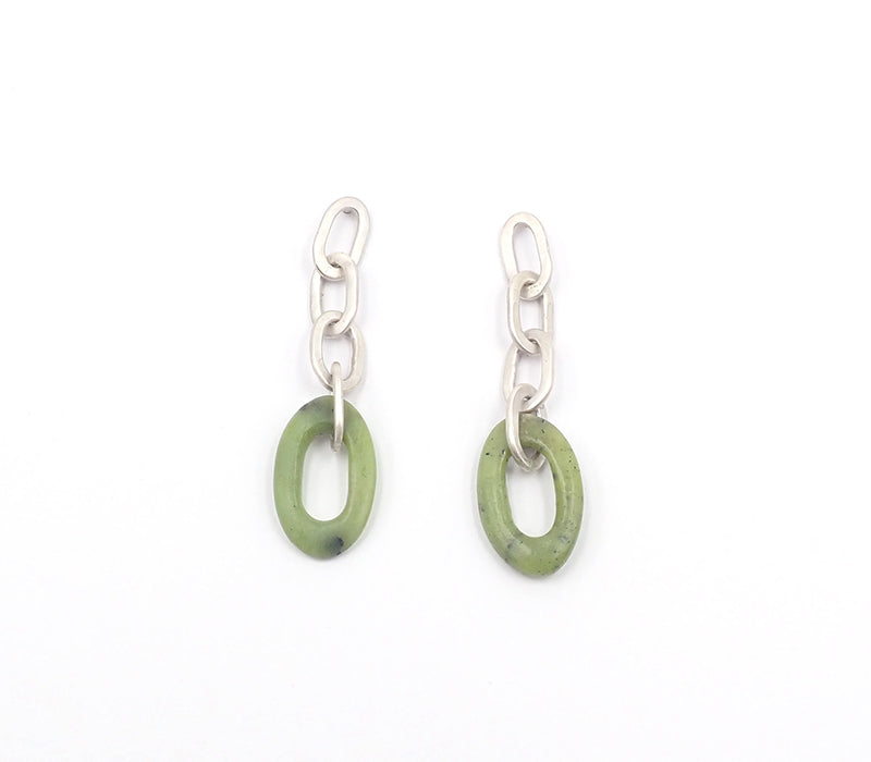Jade Chain Earrings
