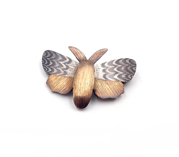 Lisa West moth brooch