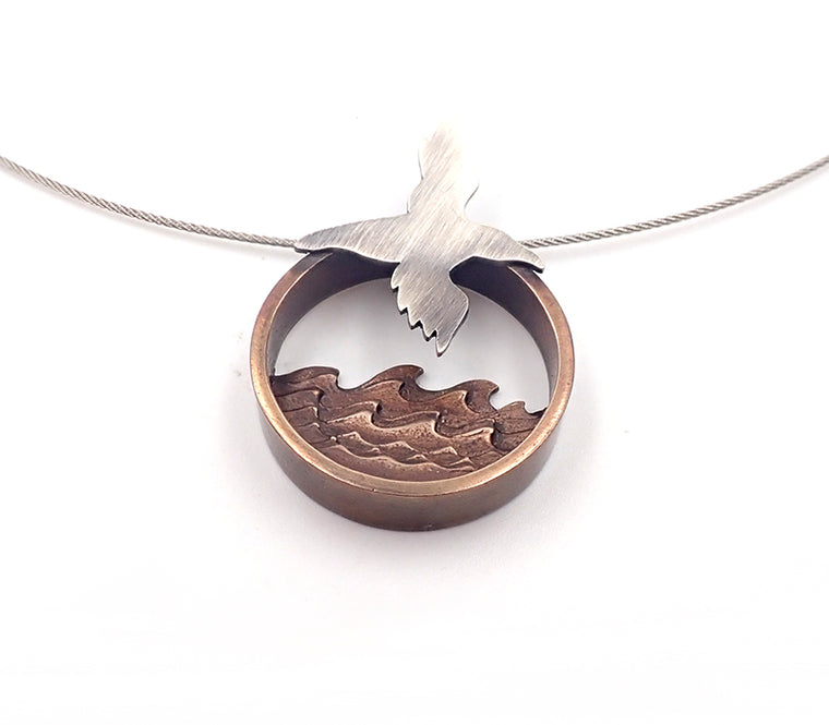 Lisa West seabird necklace diorama