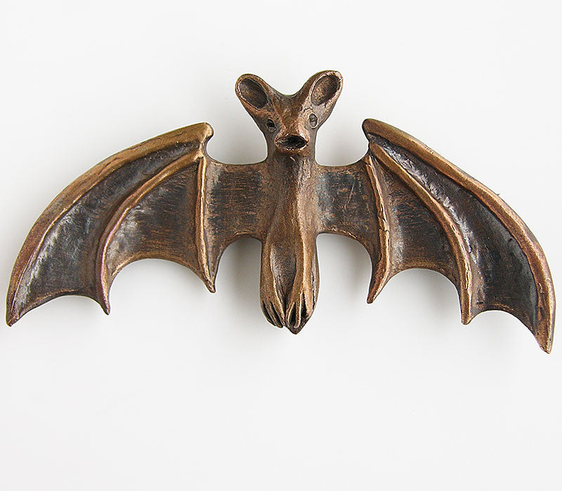 Bronze Bat Brooch