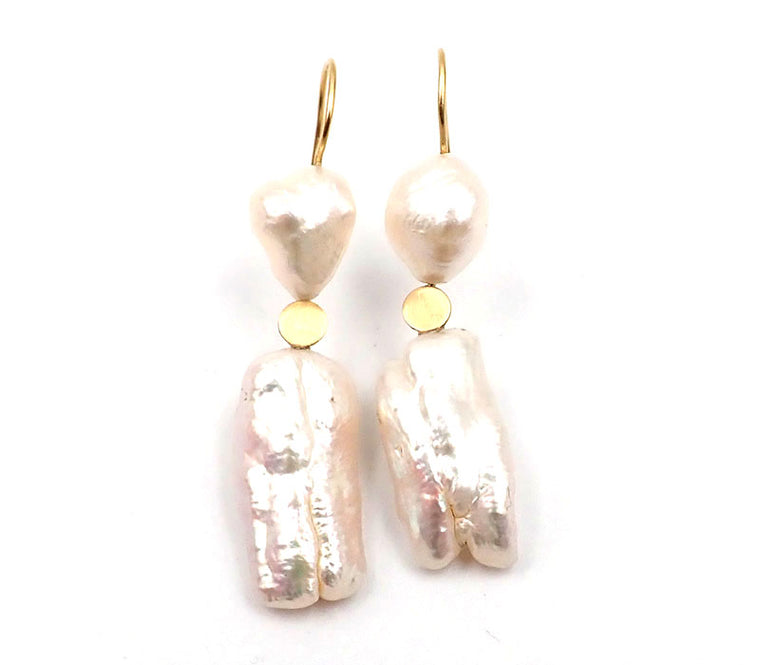 Pearl earrings Lisa Woods NZ jewellery new zealand gold