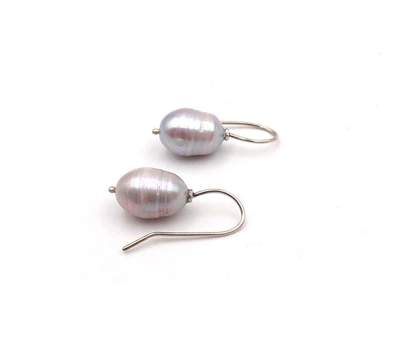 Banded Pearl Earrings