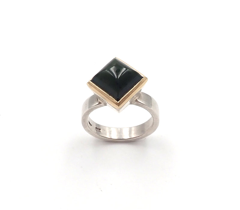 Tapered Greenstone Ring