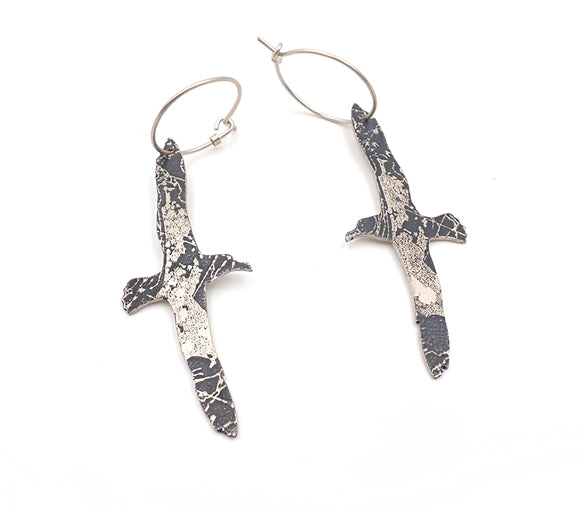 Etched Albatross Earrings