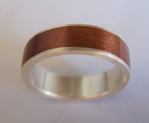 Fine Silver and Copper Sleeve Ring