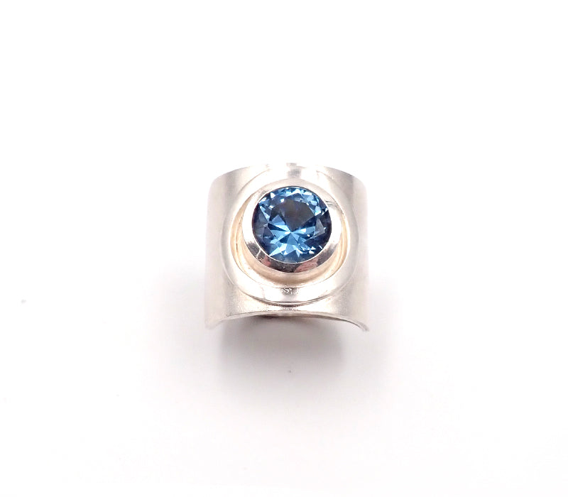 Wide Blue Spinal Ring