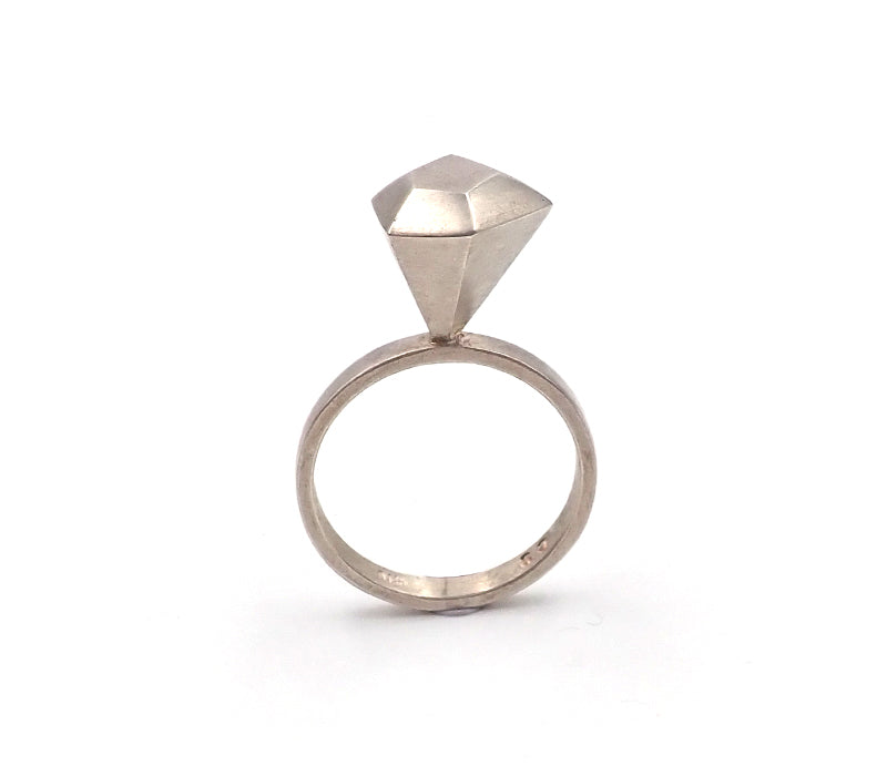 Offset 'Diamond' Ring