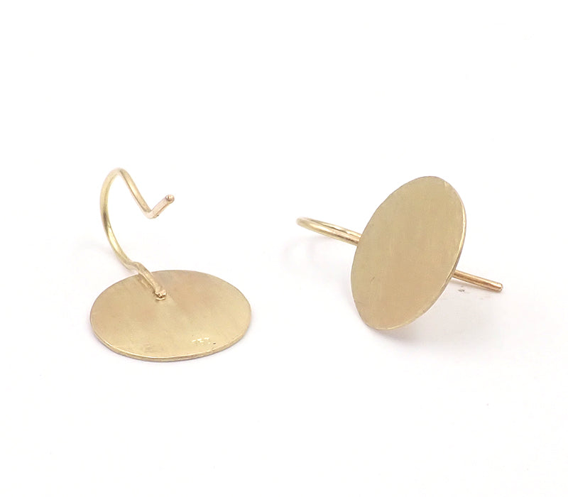 Beaten Disc Earrings