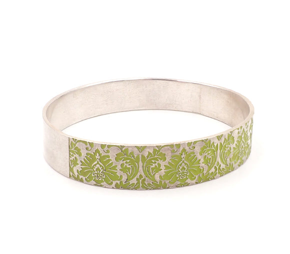 Green Damask Bangle