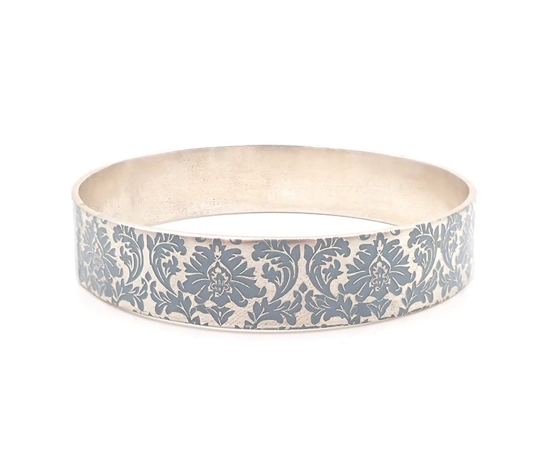 Blue Damask Bangle
