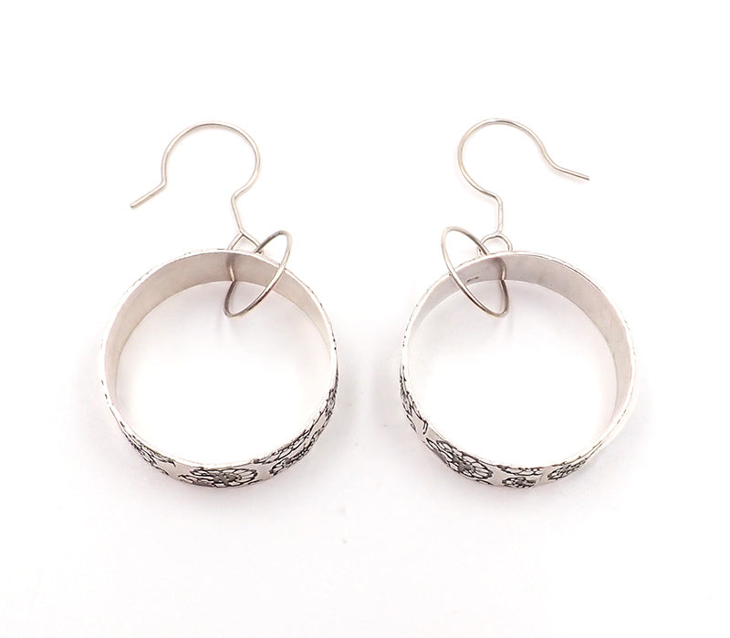 Gray Circle Earrings