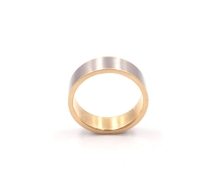 Yellow and White Gold Sleeve Ring