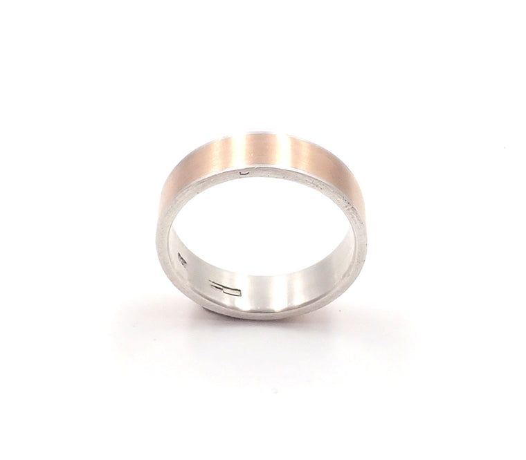 White and Pink Gold Sleeve Ring