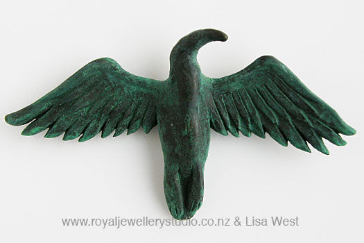Bronze Shag Brooch