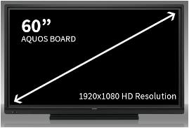 Sharp 60 Inch Aquos Board-4 Users