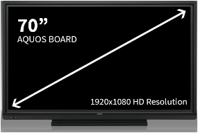 Sharp 70 Inch Aquos Board-4 Users