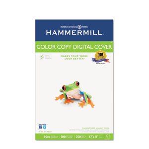 Hammermill® Copier Digital Cover Stock, 60 lbs., 17 x 11, Photo White, 250 Sheets