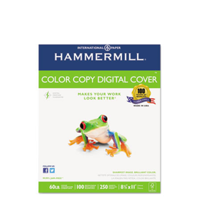 Hammermill® Copier Digital Cover Stock, 60 lbs., 8 1/2 x 11, Photo White, 250 Sheets