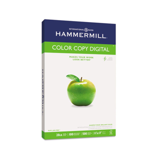 Hammermill® Copy Paper, 100 Brightness, 28lb, 11 x 17, Photo White, 500/Ream