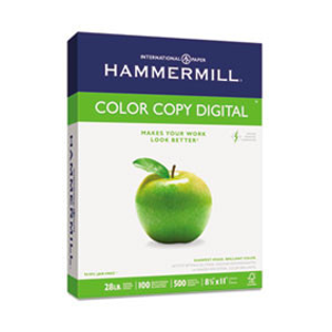 Hammermill® Copy Paper, 100 Brightness, 28lb, 8 1/2 x 11, Photo White, 500/Ream