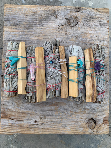 White Sage and Palo Santo cleansing pair
