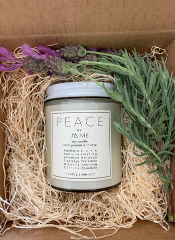 Peace Soy Candle -100% of proceeds will go to BLM Los Angeles