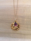 AQUARIUS Amethyst Zodiac Pendant Necklace