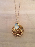 SCORPIO Aquamarine Zodiac Pendant Necklace